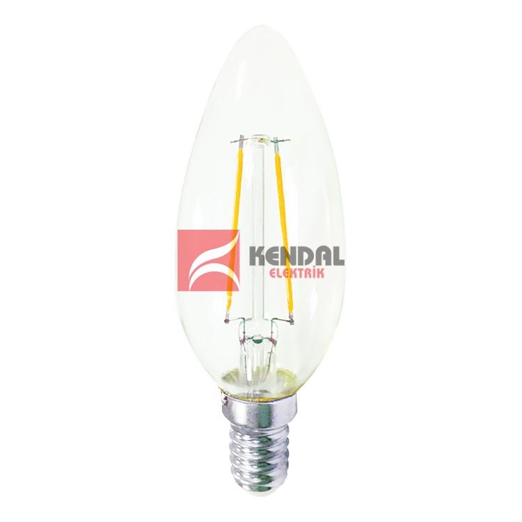 KES499 LED FLAMANLI BUJI AMP. 4W E14 BEYAZ